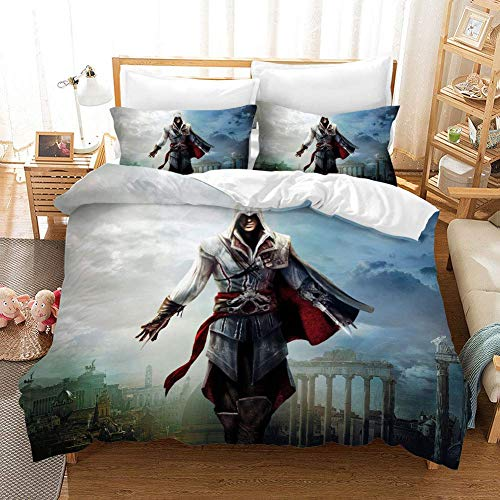 332 Duvet Cover Sets 3D Classic Games Printing Cartoon Bedding Set With Zipper Closure 100% Polyester Gift Duvet Cover 3 Pieces Set With 2 Pillowcases C-AU King96*83'(245 * 210cm)