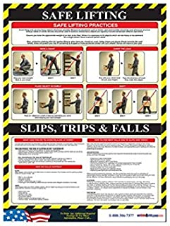 National Marker Corp. PST010 Safe Lifting Poster