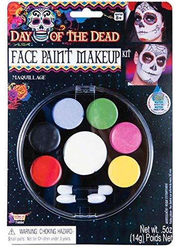 Forum Novelties - Day of The Dead Face Paint Makeup Kit, Net Wt. 14 g/.5 Oz