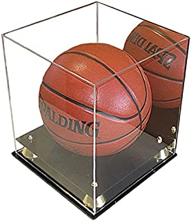 Basketball Display Case Soccer/Volley Ball Holder Stand, UV Protection