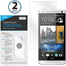 HTC One (M7 2013) Screen Protector, BoxWave [ClearTouch Crystal (2-Pack)] HD Film Skin - Shields From Scratches for HTC One (M7 2013)