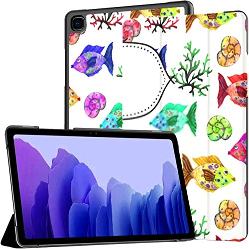 Case For Samsung Galaxy Tab A7 10.4 Inch Tablet 2020(sm-t500/t505/t507), Cover Notebook Watercolor Cartoon Seamless Pattern Multiple Angle Stand Cover With Auto Wake/sleep