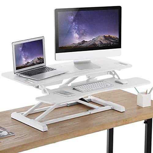 STZYY Portable Side Table Bed Sofa Hospital Reading Eating, Foldable desktop lifting table, mobile desk, laptop desk-White DWS06-02