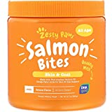 Salmon Fish Oil Omega 3 for Dogs - With Wild Alaskan Salmon Oil - Anti Itch Skin & Coat + Allergy Support - Hip & Joint + Arthritis Dog Supplement + EPA & DHA - 90 Chew Treats - Salmon Flavor