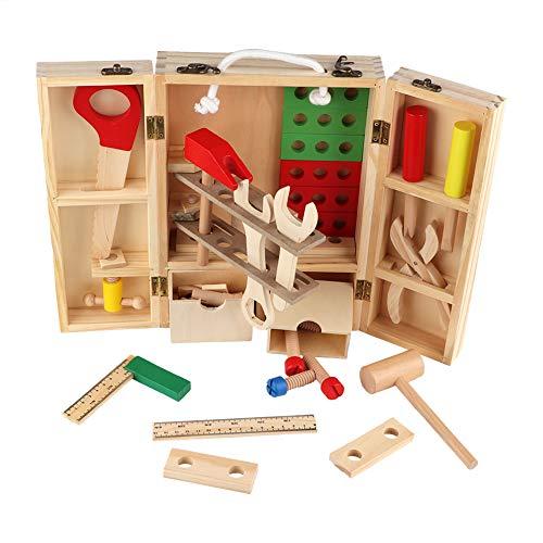 Juguete de caja de herramientas de reparación, juguete de caja de herramientas de imaginación infantil para niños Juego de herramientas de reparación educativa para niños