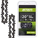 8TEN Chainsaw Chain for Stihl MS290 MS362 MS650 MS271 MS260 039 MS310 MS390 029 20 inch .064 Gauge .325 Pitch 81DL (1 Chain)