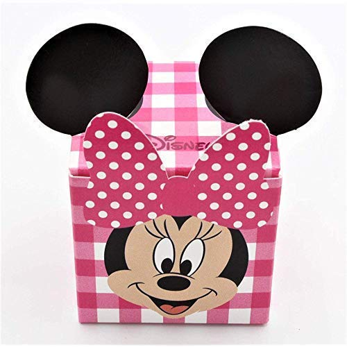 20X Minnie Disney Party Scatolina portaconfetti 5x5x5 cm Rosa bomboniera