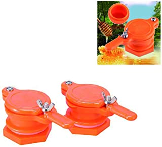 Yahpetes 2 Pcs Honey Gate Valve ABS Plastic 2.36″ Extractor Tap Honey Extractor Equipment Honey Tap for Beekeeper(Orange Honey Gate Valve)