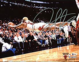 Bulls Dennis Rodman Autographed Signed Horizontal Diving 11x14 Photo Bas Witnessed - Certified Signature