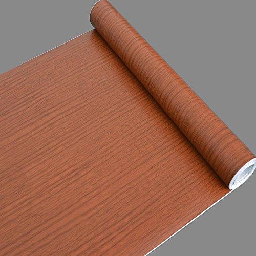 SimpleLife4U Cherry grano de madera estante maletero armario puerta adhesivo decorativo papel de contacto, 17,7cm, de 13pies
