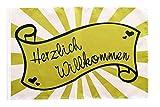 Flaggenfritze® Flagge Herzlich Willkommen Banderole - 30 x 45 cm