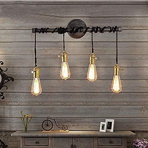 HUAQINEI Lámparas de Pared duraderas, Aplique LED, lámpara de Pared, Luces de Lavado de Pared Interior para baño, Dormitorio, Sala de Estar, Pasillo, escaleras Hyococ