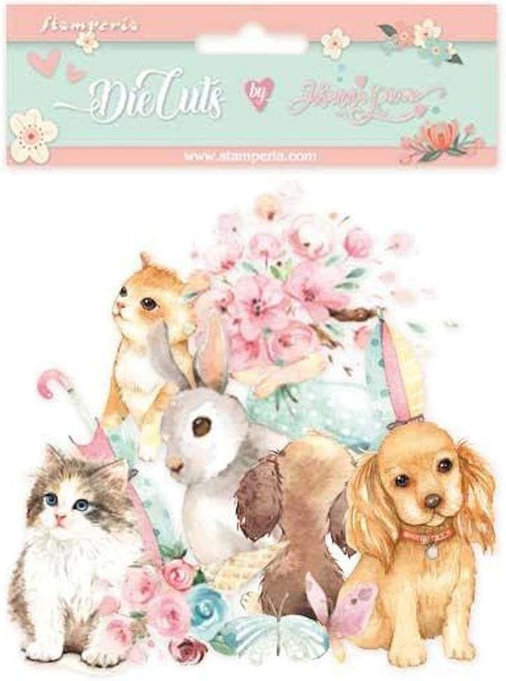 Stamperia DFLDC29 Circle of Love Chipboard Ranking Import TOP11 Embelli Cats and Dogs