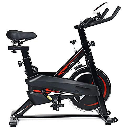 YBZS Bicicleta Fija, Bicicleta Estática Giratoria Ajustable Silenciosa, Pantalla Led Que Muestra La Velocidad, Tiempo De Quemado De Fitness En Casa/Calorías/Distancia De Viaje Y Frecuencia Cardíaca,B