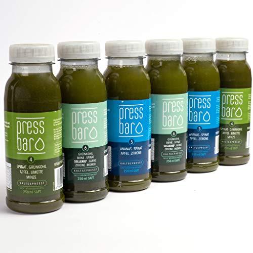 5 Tage Saftkur grün von pressbar München (30 Flaschen, 1,5 Liter pro Tag)