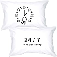 Best BoldLoft I Love You Always Couples Pillowcases- I Love You Gifts for Her-Thinking of You Gifts-Long Distance Relationships Gifts for Girlfriend Wife-Long Distance Couples Gifts Review