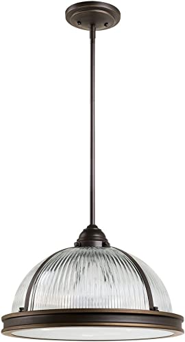 discount Sea Gull Lighting 65062-715 Pratt Street sale Prismatic Pendant Hanging sale Modern Fixture, Three - Light, Autumn Bronze outlet online sale