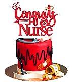 Congrats Nurse Graduation Cake Topper -...