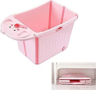 Cute Cartoon Elephant Foldable Plastic Children's Bath Tubs Baby Bath Tub, Foldable Bath Barrel for 0-12 Kids, Save Space, Muiltfunction Bath Tub(Pink,Blue)