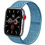 Vancle コンパチブル Apple Watch バンド 38mm 40mm 42mm 44mm ナイロンスポーツループバンド iWatch Series 5/4/3/2/1に対応 (42mm/44mm, ケープブルー)