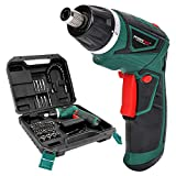 LANNERET Cordless Screwdriver Rechargeable 7.2 Volt 1500mAh Li-ion Power Screw Guns with Twistable Handle & 48 Piece Drill and Screw Accessories,BMC Packing
