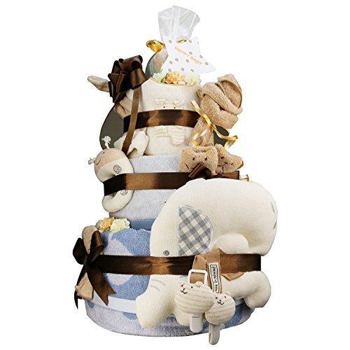 今治タオル imabari towel 出産祝い 日本製 オーガニック 最高級3段DX おむつケーキ 紋ごのみ (goonテープタイプSサイズ)