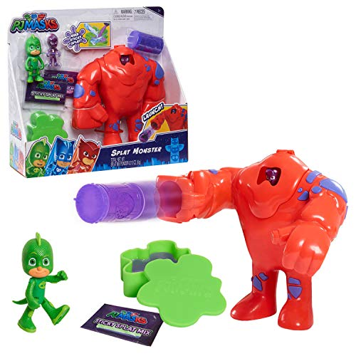 PJ Masks Splat Monster, Includes Articulated Gekko Figure, Ninjalino, and 2 Packs of Make Your Own Slime Mix