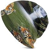 Mamihong Tigres de Sibérie dans Cascade Piscine Chaud Chapeaux Tricotés Confortable Doux Chapeau Bonnet Crâne Hiver Ski Chapeau...