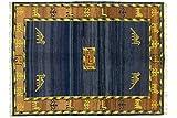 Gabbeh 185x242 cm Handgeknüpft Beige Geometrisch Teppich 200x250