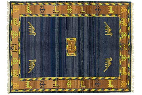 Teppichprinz Gabbeh 242x185cm Orientteppich Handgeknüpft Indien Carpet Rug