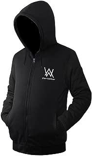Unisex Hoodie Jacket Fleece Coat Adult Sweatshirt Zip-Up with Front Pocket