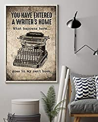 You have entered a writer's home wall art