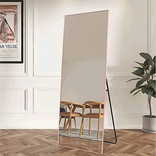 NeuType Full Length Mirror Floor Mirror with Standing Holder Bedroom/Locker Room Standing/Hanging Mirror Dressing Mirror (Rose Gold)