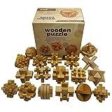 Chonor 18 Pezzi 3D Puzzle Rompicapo in Legno #2 - Classico Puzzle 3D Gioco di Mente Classi...