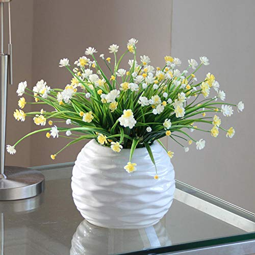 CHENMENG Decoración de orquídea simulación para el hogar, decoración de jardín, lavabo blanco y orquídea de estrellas grandes