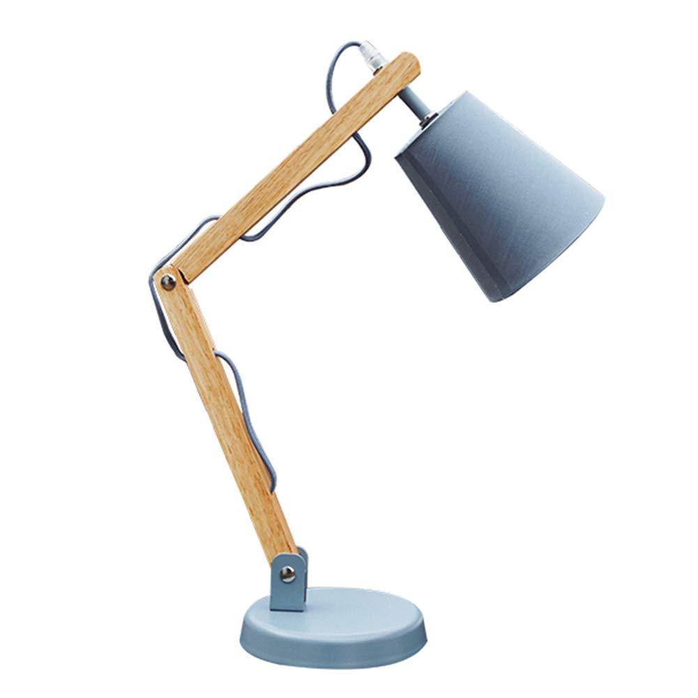 Lámpara De Escritorio con Brazo Articulado De Madera, Lámpara De Mesa De Diseño, Lámpara De Mesa De Noche, Lámpara con Bombilla LED - Color Madera ZHAOYONGLI: Amazon.es: Hogar