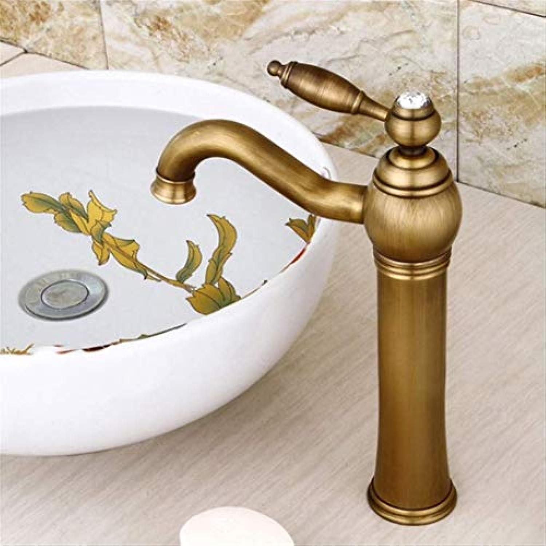 Waschtischarmaturen Moderne Antike Messing Deck Montiert Badezimmer Mischbatterien Messing Finish Mit Diamant Hohe Waschbecken Wasserhahn Wasserhhne
