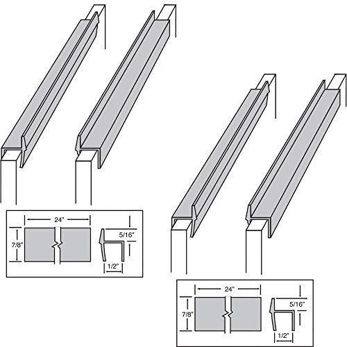 Custom Accents PVC Hanging File Rail for 1/2 Drawer Sides 2 Feet Long Black (2 Pairs, 4 Units)