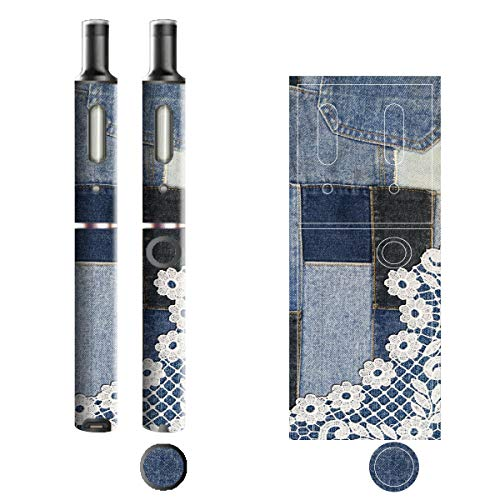 電子たばこ タバコ 煙草 喫煙具 専用スキンシール 対応機種 プルームテックプラスシール Ploom Tech Plus シール Jeans デニム モチーフコレクション 13 パッチレース 21-pt08-2241