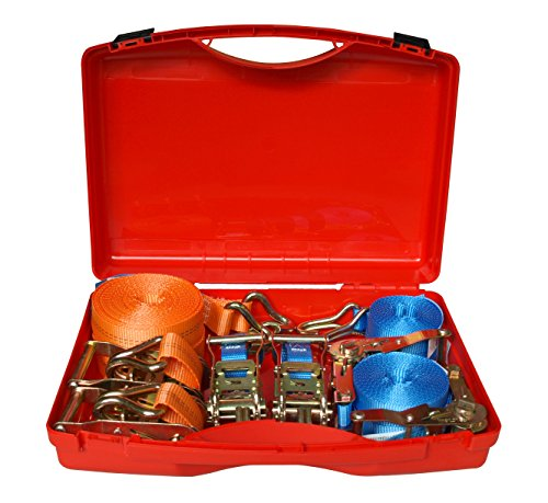 Braun GmbH 71607/4X500-2X1000 Koffer-Set Zurrgurt, blau