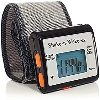 サイレントバイブレーション 振動式目覚まし時計 シェイクン・ウェイク 消音アラーム腕時計 … (Black ブラック)