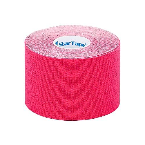 SL StarTape Kinesiologie Tape Pink - Sporttape Pflaster 5 cm breit und 550 cm lang - Sport Bandage - Verband zum Tapen