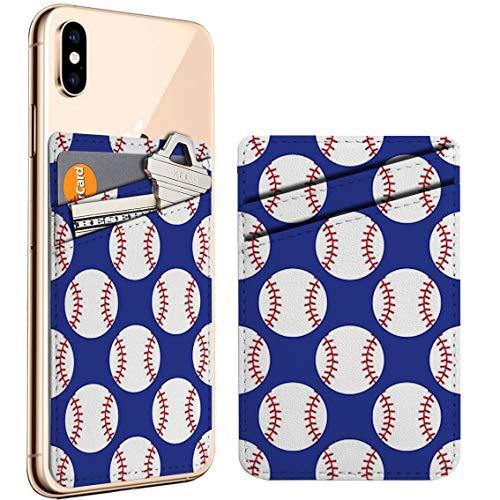 (야구의)셀룰라 전화 스틱에 ID 를 신용카드 가죽 지갑 주머니는 주머니 소매와 호환이 되 아이폰 갤럭시 안드로이드 스마트폰