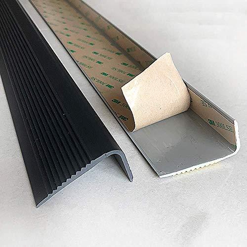 Selbstklebende Anti Anti-Rutsch-Treppenkanten Nosing Trim - Stock-Down-Edging Laufstreifen Anti-Rutsch-Streifen Treppenkanten Treppenstufe Nosing Plastikrandstreifen stark und haltbar (1m)