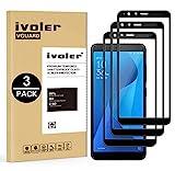 iVoler [Pack de 3] Verre Trempé pour ASUS Zenfone Max Plus (M1) 5.7 Pouces, [Couverture Complète] Film Protection en Verre...