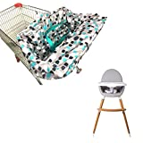 Copertura per carrello della spesa per neonati o bambini, 2 in 1, lavabile in lavatrice, adatto per seggioloni da ristorante. Idea regalo per la mamma.