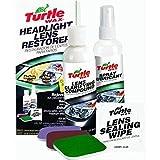 Nueva Turtle Wax t240kt lente del faro restauración restaurador limpiador Kit completo