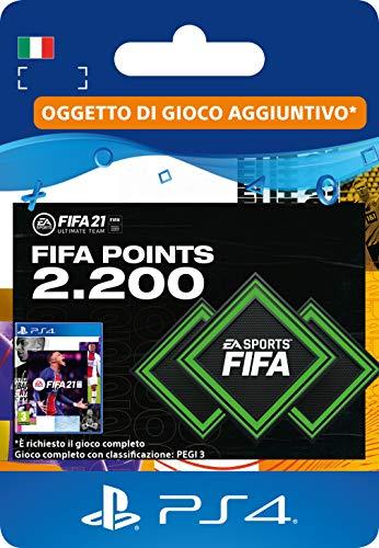 FIFA 21 Ultimate Team 2200 FIFA Points | Codice download per PS4 (incl. upgrade gratuito a PS5)- Account italiano