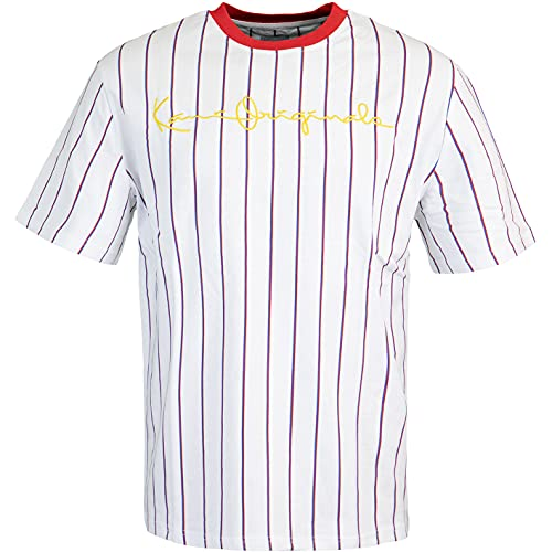 Karl Kani Originals Pinstripe T-Shirt (L, White/red/Blue)