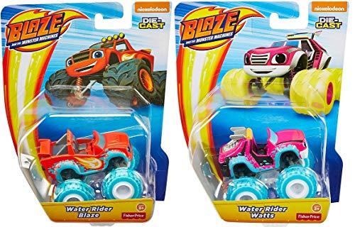 Fisher Price - Blaze and The Monster Machines - set 2pcs Cars - Blaze & Watts - New